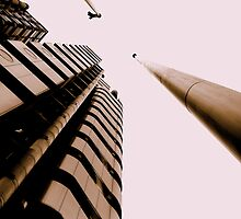 Lloyds London, Gresham Street, in perspective by Chris Millar