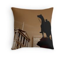 Statue of Wellington, London Throw Pillow