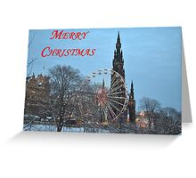 Christmas Card from Edinburgh Greeting Card