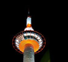 Kyoto Tower by Lynnette Peizer