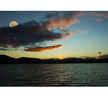 Sunset Loch Tulla Glencoe Scotland Photographic Print