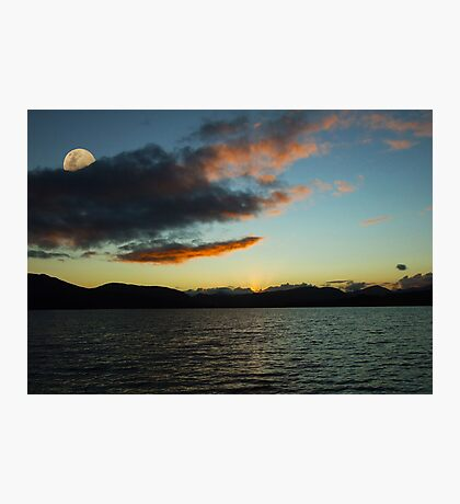 Sunset Loch Tulla Glencoe Scotland Photographic Print