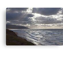 Storm Light Inverness Beach NS Canvas Print