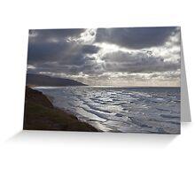 Storm Light Inverness Beach NS Greeting Card