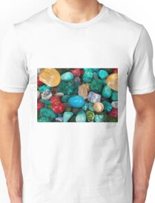 polished semi precious gem stones Unisex T-Shirt