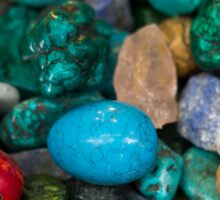 polished semi precious gem stones Sticker