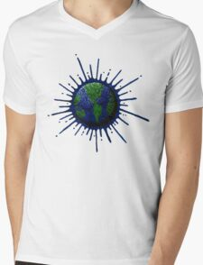 Global Splat Mens V-Neck T-Shirt