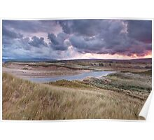 Sunrise on Inverness Dunes Cape Breton NS Poster