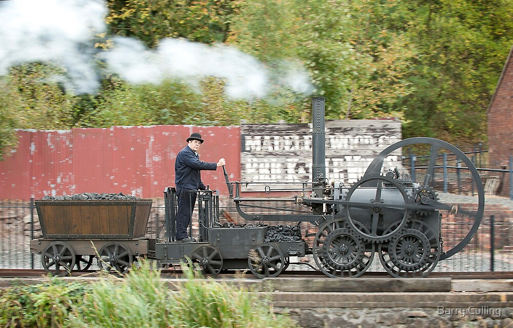 Replica of Richard Trevithick's Colebrookdale locomotive by Barry Culling