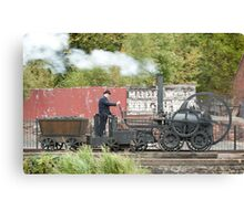 Replica of Richard Trevithick's Colebrookdale locomotive Canvas Print