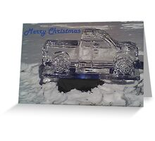 Ice Truck. Christmas Card Greeting Card