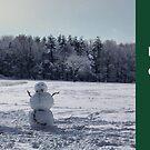"Snowmen Christmas Card by Christine ""Xine"" Segalas"