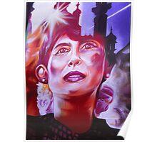 Aung San Suu Kyi - Brighton Street Art Poster