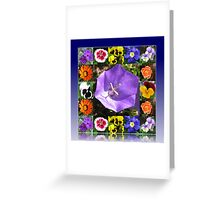 Summers Gone By Floral Collage Greeting Card
