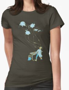Mad Animal Pianist - Digital Art + Painting Womens Fitted T-Shirt