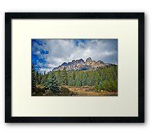 Castle Mountain, Alberta Framed Print