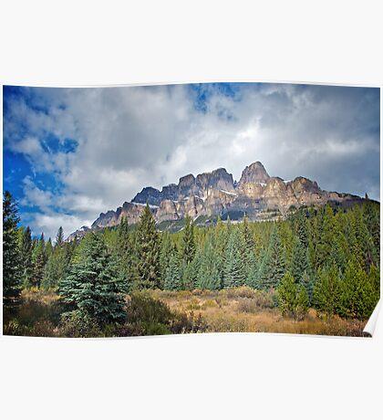 Castle Mountain, Alberta Poster