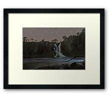 Nigretta Falls and Startrails Framed Print