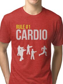 Zombie Survival Guide - Rule #1 Cardio Tri-blend T-Shirt