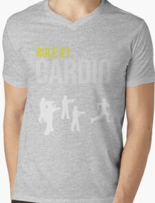 Zombie Survival Guide - Rule #1 Cardio Mens V-Neck T-Shirt