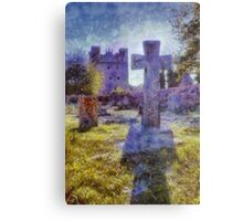 Tattershall Castle & Gravestone Cross  Metal Print