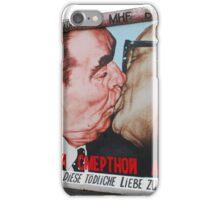 Brezhnev and Gorbachev kissing on Berlin Wall iPhone Case/Skin