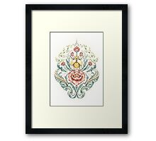 Antique pattern - Beetle and centipedes Framed Print