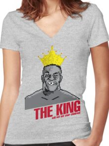 The King Will Not Eat Your Children Women's Fitted V-Neck T-Shirt