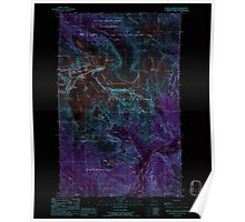 USGS Topo Map Washington State WA Mount Shuksan 242535 1989 24000 Inverted Poster