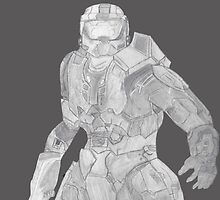 Master Chief Not Color by RayneCloudz
