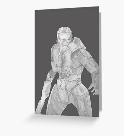 Master Chief Not Color Greeting Card