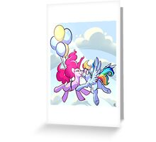 PinkieDash w/ Background Greeting Card