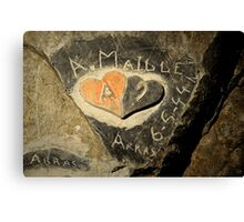 ww2 grafitti hearts underground Canvas Print