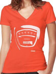 Lambretta Innocenti Veglia Speedo white Women's Fitted V-Neck T-Shirt