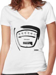 Lambretta Innocenti Veglia Speedo black Women's Fitted V-Neck T-Shirt