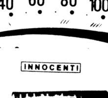Lambretta Innocenti Veglia Speedo black Sticker