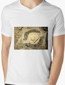 ww2 grafitti hearts underground Mens V-Neck T-Shirt