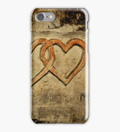 ww2 grafitti hearts underground iPhone Case/Skin