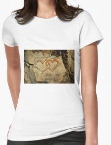 ww2 grafitti hearts underground Womens Fitted T-Shirt