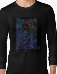 USGS Topo Map Washington State WA Mt Rainier West 242661 1971 24000 Inverted Long Sleeve T-Shirt
