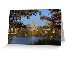 Diss Mere and Church Greeting Card