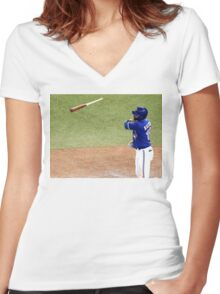 Jose Bautista 2 Women's Fitted V-Neck T-Shirt