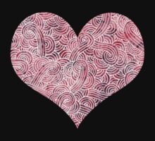Burgundy red and white swirls zentangles One Piece - Long Sleeve