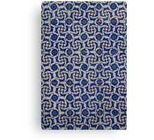 Blue Mosque tile work Canvas Print