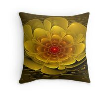 Floating Bloom Throw Pillow