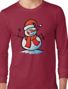 Mad Snowman Long Sleeve T-Shirt