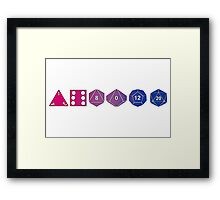 Bisexuality Pride (Polyhedral Edition) Framed Print