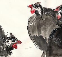 Guinea Fowls by WoolleyWorld