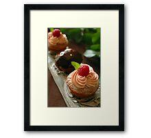 Raspberry cup cake Framed Print