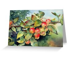 Green crab apples Greeting Card